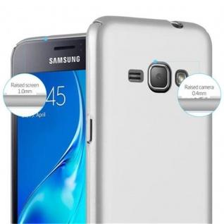 Cadorabo Hülle für Samsung Galaxy J1 2016 in METALL SILBER ? Hardcase Handyhülle aus Plastik gegen Kratzer und Stöße ? Schutzhülle Bumper Ultra Slim Back Case Hard Cover - Vorschau 5
