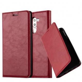 Cadorabo Hülle für Honor 6X in APFEL ROT - Handyhülle mit Magnetverschluss, Standfunktion und Kartenfach - Case Cover Schutzhülle Etui Tasche Book Klapp Style