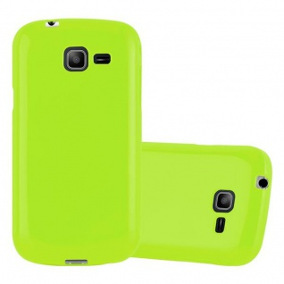 Cadorabo Hülle für Samsung Galaxy TREND LITE in JELLY GRÜN ? Handyhülle aus flexiblem TPU Silikon ? Silikonhülle Schutzhülle Ultra Slim Soft Back Cover Case Bumper