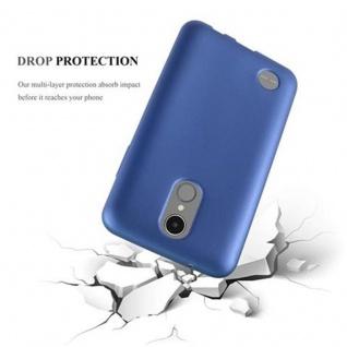 Cadorabo Hülle für LG K8 2017 in METALLIC BLAU - Handyhülle aus flexiblem TPU Silikon - Silikonhülle Schutzhülle Ultra Slim Soft Back Cover Case Bumper - Vorschau 3