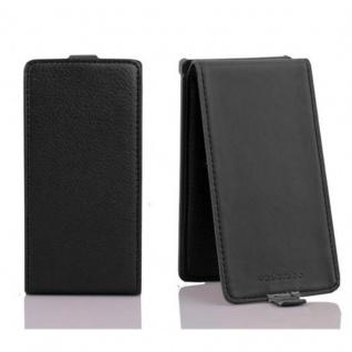 Cadorabo Hülle für Sony Xperia S in OXID SCHWARZ - Handyhülle im Flip Design aus strukturiertem Kunstleder - Case Cover Schutzhülle Etui Tasche Book Klapp Style - Vorschau 2