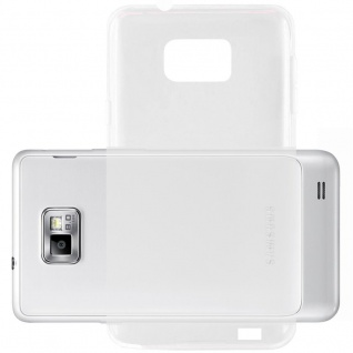Cadorabo Hülle für Samsung Galaxy S2 / S2 PLUS - Hülle in VOLL TRANSPARENT ? Handyhülle aus TPU Silikon im Ultra Slim 'AIR' Design - Ultra Slim Soft Backcover Case Bumper