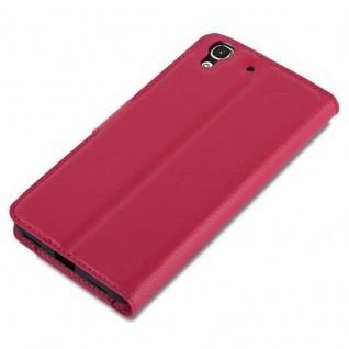 Cadorabo Hülle für Huawei Y6 2015 / Honor 4A in KARMIN ROT - Handyhülle mit Magnetverschluss, Standfunktion und Kartenfach - Case Cover Schutzhülle Etui Tasche Book Klapp Style - Vorschau 4