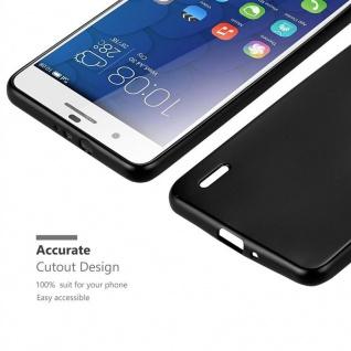 Cadorabo Hülle für Honor 6 PLUS in METALLIC SCHWARZ - Handyhülle aus flexiblem TPU Silikon - Silikonhülle Schutzhülle Ultra Slim Soft Back Cover Case Bumper - Vorschau 5