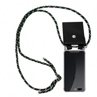 Cadorabo Handy Kette für OnePlus 5 in CAMOUFLAGE Silikon Necklace Umhänge Hülle mit Silber Ringen, Kordel Band Schnur und abnehmbarem Etui Schutzhülle