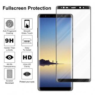 Cadorabo Vollbild Panzer Folie für Samsung Galaxy NOTE 8 - Schutzfolie in TRANSPARENT mit SCHWARZ - Gehärtetes (Tempered) Display-Schutzglas in 9H Härte mit 3D Touch Kompatibilität - Vorschau 4