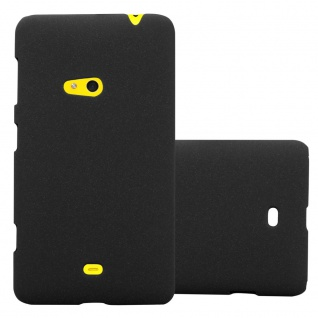 Cadorabo ? Mattes Hard Cover Slim Case Frosty für Nokia Lumia 625 - Cover Schutz-hülle in FROSTY-SCHWARZ