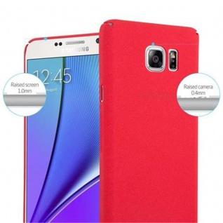Cadorabo Hülle für Samsung Galaxy NOTE 5 in FROSTY ROT - Hardcase Handyhülle aus Plastik gegen Kratzer und Stöße - Schutzhülle Bumper Ultra Slim Back Case Hard Cover - Vorschau 5