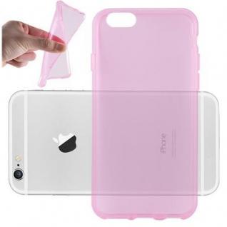 Cadorabo Hülle für Apple iPhone 6 PLUS / iPhone 6S PLUS - Hülle in TRANSPARENT PINK ? Handyhülle aus TPU Silikon im Ultra Slim 'AIR' Design - Ultra Slim Soft Backcover Case Bumper