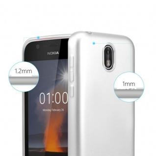 Cadorabo Hülle für Nokia 1 2017 in METALLIC SILBER - Handyhülle aus flexiblem TPU Silikon - Silikonhülle Schutzhülle Ultra Slim Soft Back Cover Case Bumper - Vorschau 5