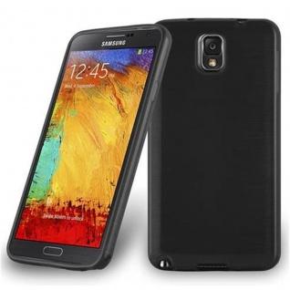 Cadorabo Hülle für Samsung Galaxy NOTE 3 in SCHWARZ - Handyhülle aus flexiblem TPU Silikon - Silikonhülle Schutzhülle Ultra Slim Soft Back Cover Case Bumper