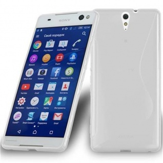 Cadorabo Hülle für Sony Xperia C5 ULTRA in HALB TRANSPARENT ? Handyhülle aus flexiblem TPU Silikon ? Silikonhülle Schutzhülle Ultra Slim Soft Back Cover Case Bumper