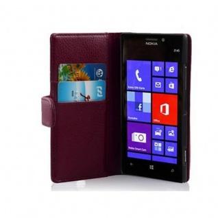 Cadorabo Hülle für Nokia Lumia 925 in BORDEAUX LILA ? Handyhülle aus strukturiertem Kunstleder mit Standfunktion und Kartenfach ? Case Cover Schutzhülle Etui Tasche Book Klapp Style