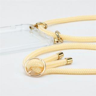 Cadorabo Handy Kette für Oneplus 8 in CREME BEIGE Silikon Necklace Umhänge Hülle mit Gold Ringen, Kordel Band Schnur und abnehmbarem Etui Schutzhülle - Vorschau 2