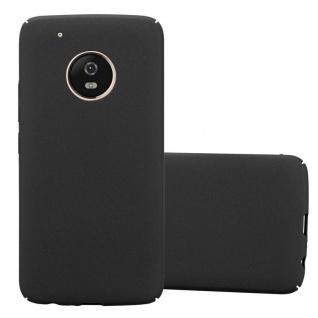 Cadorabo Hülle für Motorola MOTO G5 PLUS in FROSTY SCHWARZ - Hardcase Handyhülle aus Plastik gegen Kratzer und Stöße - Schutzhülle Bumper Ultra Slim Back Case Hard Cover