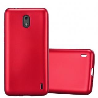 Cadorabo Hülle für Nokia 2 2017 in METALLIC ROT - Handyhülle aus flexiblem TPU Silikon - Silikonhülle Schutzhülle Ultra Slim Soft Back Cover Case Bumper
