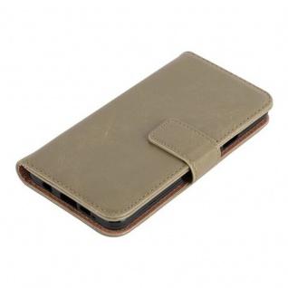 Cadorabo Hülle für Samsung Galaxy A3 2016 in CAPPUCCINO BRAUN ? Handyhülle mit Magnetverschluss, Standfunktion und Kartenfach ? Case Cover Schutzhülle Etui Tasche Book Klapp Style - Vorschau 3