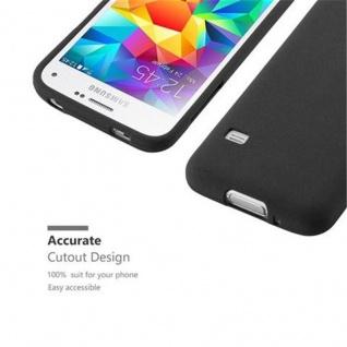Cadorabo Hülle für Samsung Galaxy S5 MINI / S5 MINI DUOS in FROST SCHWARZ - Handyhülle aus flexiblem TPU Silikon - Silikonhülle Schutzhülle Ultra Slim Soft Back Cover Case Bumper - Vorschau 2