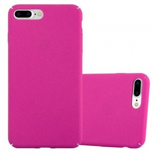 Cadorabo Hülle für Apple iPhone 8 PLUS / iPhone 7 PLUS / iPhone 7S PLUS in FROSTY PINK - Hardcase Handyhülle aus Plastik gegen Kratzer und Stöße - Schutzhülle Bumper Ultra Slim Back Case Hard Cover