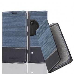 Cadorabo Hülle für Nokia Lumia 1020 in DUNKEL BLAU SCHWARZ - Handyhülle mit Magnetverschluss, Standfunktion und Kartenfach - Case Cover Schutzhülle Etui Tasche Book Klapp Style