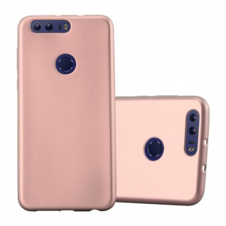 Cadorabo Hülle für Honor 8 in METALLIC ROSÉ GOLD - Handyhülle aus flexiblem TPU Silikon - Silikonhülle Schutzhülle Ultra Slim Soft Back Cover Case Bumper - Vorschau 1