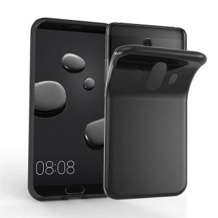 Cadorabo Hülle für Huawei MATE 10 in SCHWARZ - Handyhülle aus flexiblem TPU Silikon - Silikonhülle Schutzhülle Ultra Slim Soft Back Cover Case Bumper