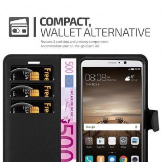 Cadorabo Hülle für Huawei MATE 10 in PHANTOM SCHWARZ - Handyhülle mit Magnetverschluss, Standfunktion und Kartenfach - Case Cover Schutzhülle Etui Tasche Book Klapp Style - Vorschau 3