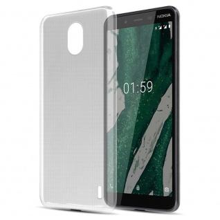 Cadorabo Hülle für Nokia 1 PLUS in VOLL TRANSPARENT Handyhülle aus flexiblem TPU Silikon Silikonhülle Schutzhülle Ultra Slim Soft Back Cover Case Bumper