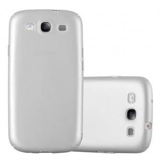 Cadorabo Hülle für Samsung Galaxy S3 / S3 NEO in METALL SILBER ? Hardcase Handyhülle aus Plastik gegen Kratzer und Stöße ? Schutzhülle Bumper Ultra Slim Back Case Hard Cover