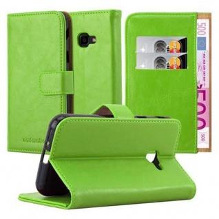 Cadorabo Hülle für Samsung Galaxy Xcover 4 in GRAS GRÜN ? Handyhülle mit Magnetverschluss, Standfunktion und Kartenfach ? Case Cover Schutzhülle Etui Tasche Book Klapp Style