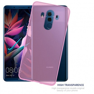 Cadorabo Hülle für Huawei MATE 10 PRO in TRANSPARENT PINK - Handyhülle aus flexiblem TPU Silikon - Silikonhülle Schutzhülle Ultra Slim Soft Back Cover Case Bumper - Vorschau 5