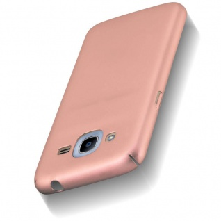 Cadorabo Hülle für Samsung Galaxy J2 2016 in METALL ROSÉ GOLD - Hardcase Handyhülle aus Plastik gegen Kratzer und Stöße - Schutzhülle Bumper Ultra Slim Back Case Hard Cover - Vorschau 5