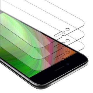 Cadorabo 3x Panzer Folie für Apple iPhone 8 PLUS / 7 PLUS / 7S PLUS Schutzfolie in KRISTALL KLAR 3er Pack Gehärtetes (Tempered) Display-Schutzglas in 9H Härte mit 3D Touch Kompatibilität