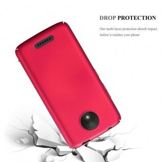 Cadorabo Hülle für Motorola MOTO C in METALL ROT - Hardcase Handyhülle aus Plastik gegen Kratzer und Stöße - Schutzhülle Bumper Ultra Slim Back Case Hard Cover - Vorschau 3