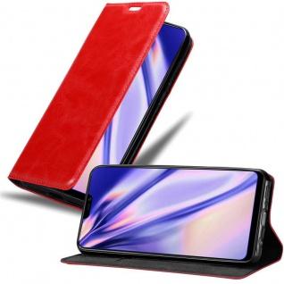 Cadorabo Hülle für Vivo Y85 in APFEL ROT Handyhülle mit Magnetverschluss, Standfunktion und Kartenfach Case Cover Schutzhülle Etui Tasche Book Klapp Style