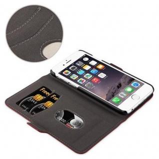 Cadorabo Hülle für Apple iPhone 6 / iPhone 6S - Hülle in GRANATAPFEL ROT - Handyhülle im 2-in-1 Design mit Standfunktion und Kartenfach - Hard Case Book Etui Schutzhülle Tasche Cover - Vorschau 5