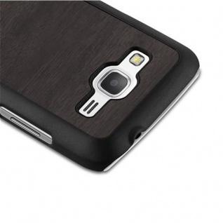 Cadorabo Hülle für Samsung Galaxy CORE PRIME in WOODY SCHWARZ ? Hardcase Handyhülle aus Plastik gegen Kratzer und Stöße ? Schutzhülle Bumper Ultra Slim Back Case Hard Cover - Vorschau 4