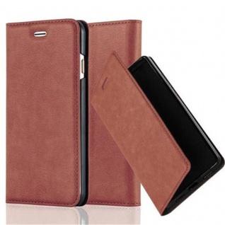 Cadorabo Hülle für Apple iPhone 6 PLUS / iPhone 6S PLUS in CAPPUCCINO BRAUN - Handyhülle mit Magnetverschluss, Standfunktion und Kartenfach - Case Cover Schutzhülle Etui Tasche Book Klapp Style - Vorschau 1