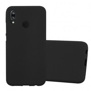 Cadorabo Hülle für Huawei P20 LITE in FROST SCHWARZ - Handyhülle aus flexiblem TPU Silikon - Silikonhülle Schutzhülle Ultra Slim Soft Back Cover Case Bumper