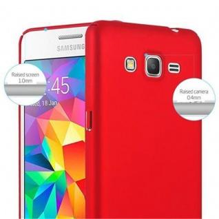 Cadorabo Hülle für Samsung Galaxy GRAND PRIME in METALL ROT - Hardcase Handyhülle aus Plastik gegen Kratzer und Stöße - Schutzhülle Bumper Ultra Slim Back Case Hard Cover - Vorschau 4