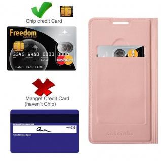 Cadorabo Hülle für Huawei MATE 10 LITE in CLASSY ROSÉ GOLD - Handyhülle mit Magnetverschluss, Standfunktion und Kartenfach - Case Cover Schutzhülle Etui Tasche Book Klapp Style - Vorschau 2