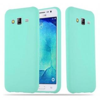 Cadorabo Hülle für Samsung Galaxy J5 2015 in CANDY BLAU - Handyhülle aus flexiblem TPU Silikon - Silikonhülle Schutzhülle Ultra Slim Soft Back Cover Case Bumper
