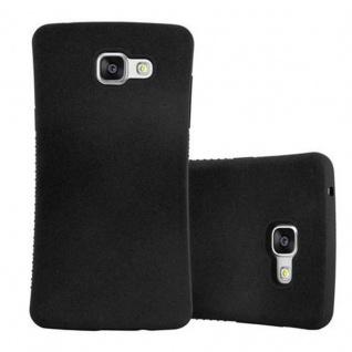 Cadorabo Hülle für Samsung Galaxy A3 2016 - Hülle in MINERAL SCHWARZ ? Small Waist Handyhülle mit rutschfestem Gummi-Rücken - Hard Case TPU Silikon Schutzhülle