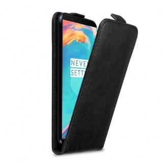 Cadorabo Hülle für OnePlus 5T in NACHT SCHWARZ Handyhülle im Flip Design mit Magnetverschluss Case Cover Schutzhülle Etui Tasche Book Klapp Style