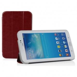 """"""" Cadorabo Hülle für Samsung Galaxy Tab 3, 0 (7"""" Zoll) - Hülle in DATTEL BRAUN ? Schutzhülle mit Auto Wake Sleep und Standfunktion - Book Style Etui Bumper Case Cover"""""""