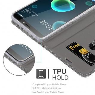 Cadorabo Hülle für HTC Desire 12 PLUS in HELL GRAU BRAUN - Handyhülle mit Magnetverschluss, Standfunktion und Kartenfach - Case Cover Schutzhülle Etui Tasche Book Klapp Style - Vorschau 2
