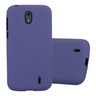 Cadorabo Hülle für Nokia 1 2017 in FROST DUNKEL BLAU - Handyhülle aus flexiblem TPU Silikon - Silikonhülle Schutzhülle Ultra Slim Soft Back Cover Case Bumper