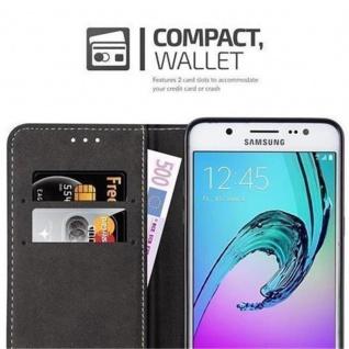 Cadorabo Hülle für Samsung Galaxy J5 2016 in DUNKEL BLAU BRAUN ? Handyhülle mit Magnetverschluss, Standfunktion und Kartenfach ? Case Cover Schutzhülle Etui Tasche Book Klapp Style - Vorschau 5