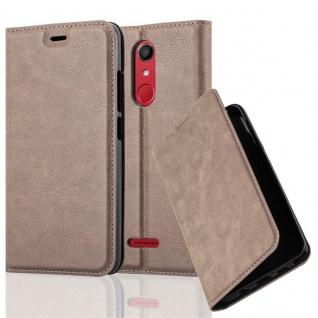 Cadorabo Hülle für WIKO UPULSE in KAFFEE BRAUN - Handyhülle mit Magnetverschluss, Standfunktion und Kartenfach - Case Cover Schutzhülle Etui Tasche Book Klapp Style