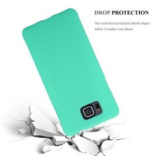 Cadorabo Hülle für Samsung Galaxy ALPHA in FROSTY GRÜN - Hardcase Handyhülle aus Plastik gegen Kratzer und Stöße - Schutzhülle Bumper Ultra Slim Back Case Hard Cover - Vorschau 3